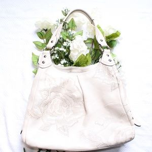 Coach Madison Maggie Leather Cream Tote